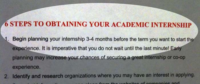 6 steps to obtaining your academic internship
