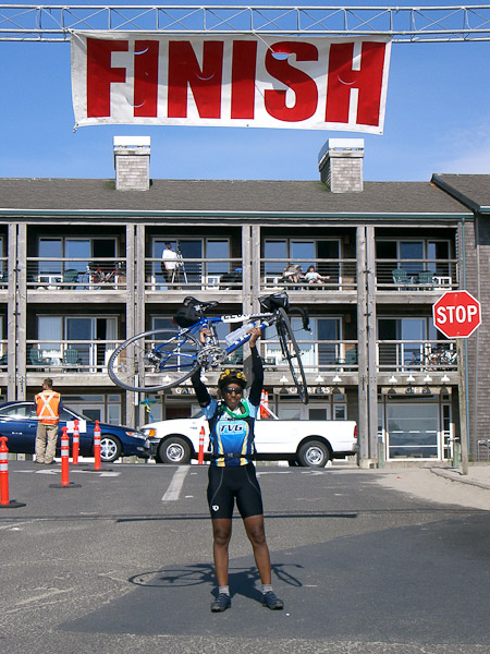 At the Reach the Beach finish line in 2006