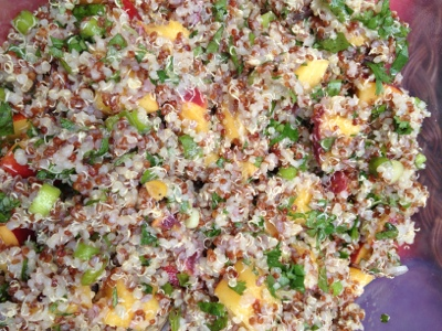 Quinoa Peach Salad