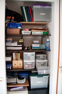 Left side office closet, now with organization!