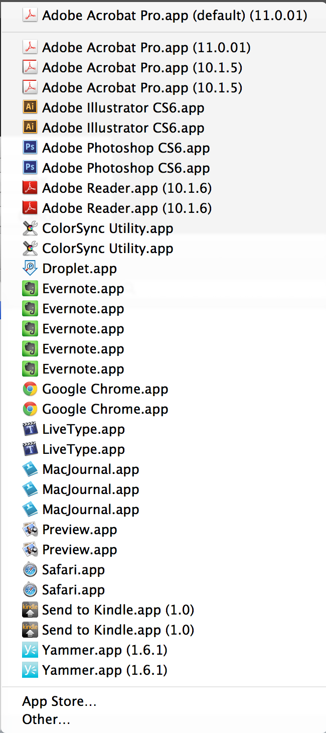 Lazy Web Answer: Fix Duplicate App Entries for 'Open With' in Mac OS