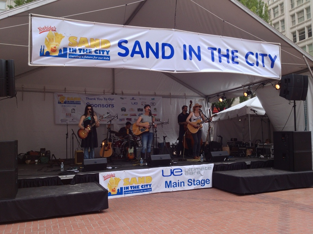 Dirty Martini playing the Sand in the City event at Pioneer Square