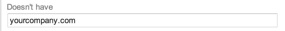 External email filter