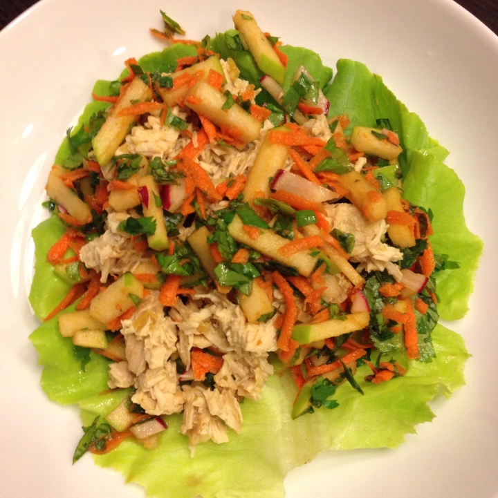 Ginger Lime Chicken Lettuce Wraps