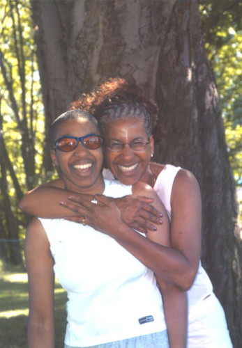 me and mom at Donald Dixon's annual family picnic