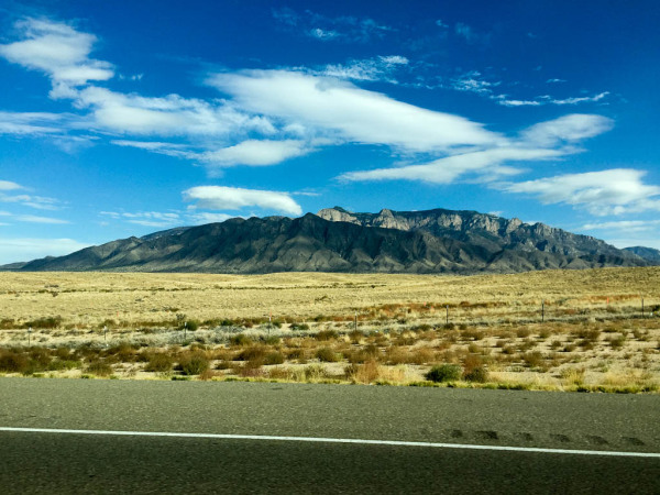 Scenic landscape between Albuquerque and Santa Fe