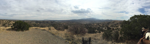 The view from the hills above Cerillos, NM