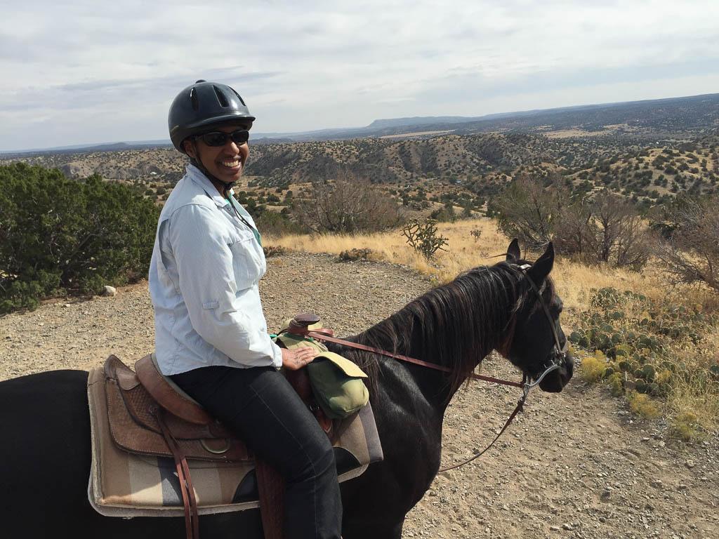 Sitting on my horse, enjoying the scenery