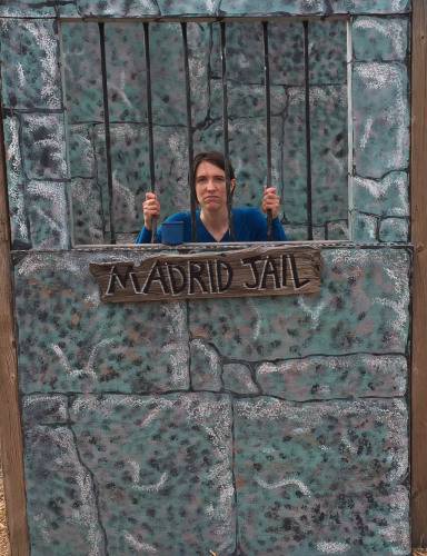 Jess in the Madrid 'jail' photo cut out