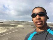 Post beach run photo in Long Beach, WA