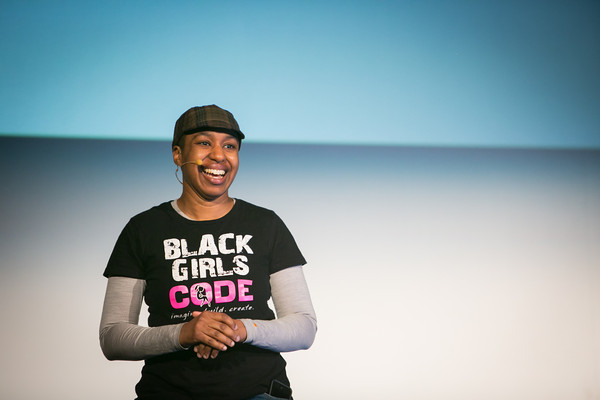 Kronda speaking at the 2014 Lesbians Who Tech summit