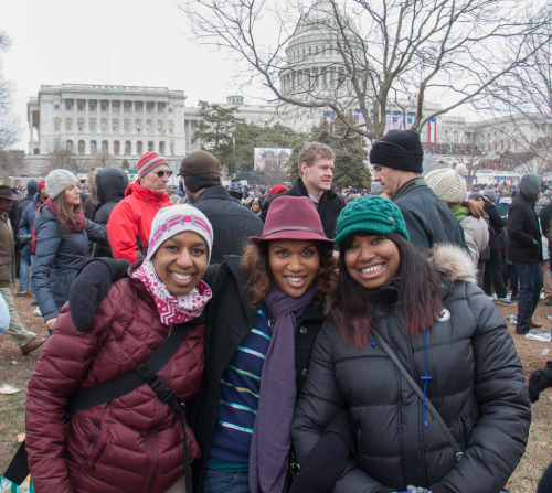 Kronda, Kim & Traci on the Capital lawn, Washington D.C.