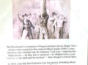 Slide showing a black man being whipped under Oregon's Lash Law