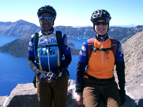 Riding around Crater Lake, 2007
