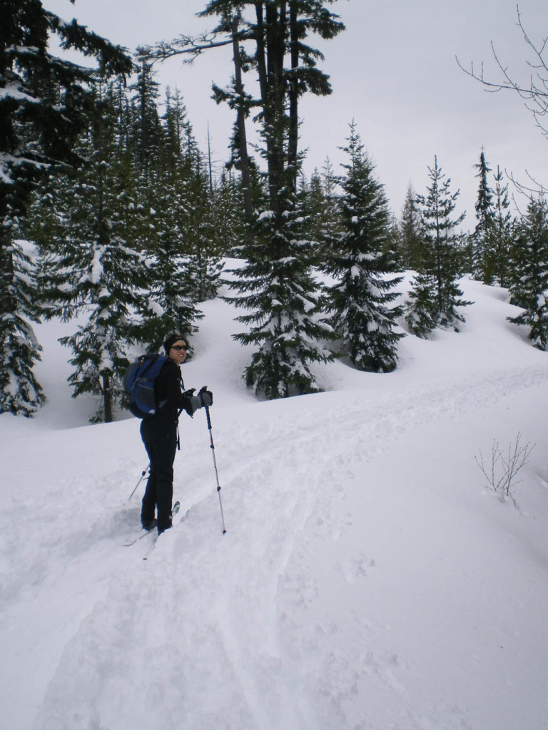 Jess cross country skiing