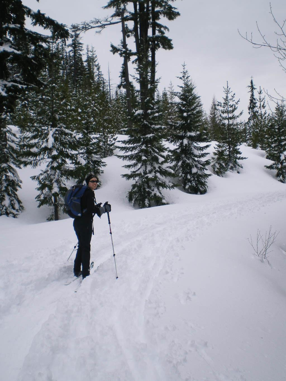 Jess cross country skiing