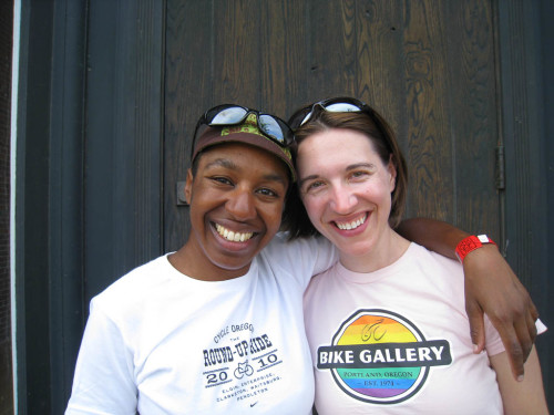 Kronda and Jess, Cycle Oregon 2010