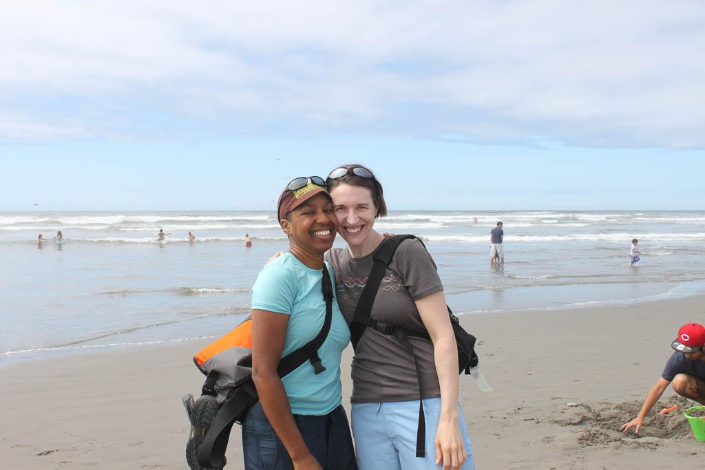 Kronda and Jess at the beach