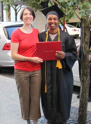 Graduating from Art Institute of Portland, Sept 2011
