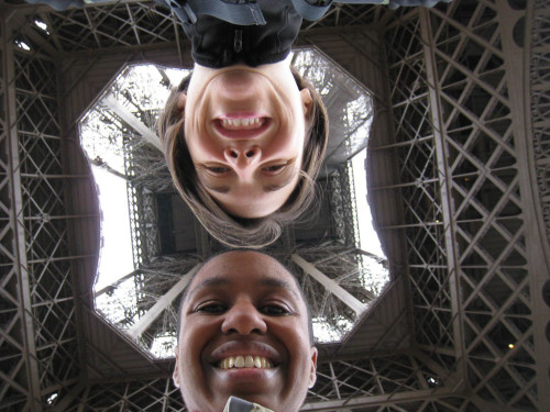 Kronda and Jess under the Eiffel Tower in Paris