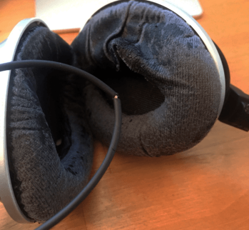 Bose headphones that have seen better days